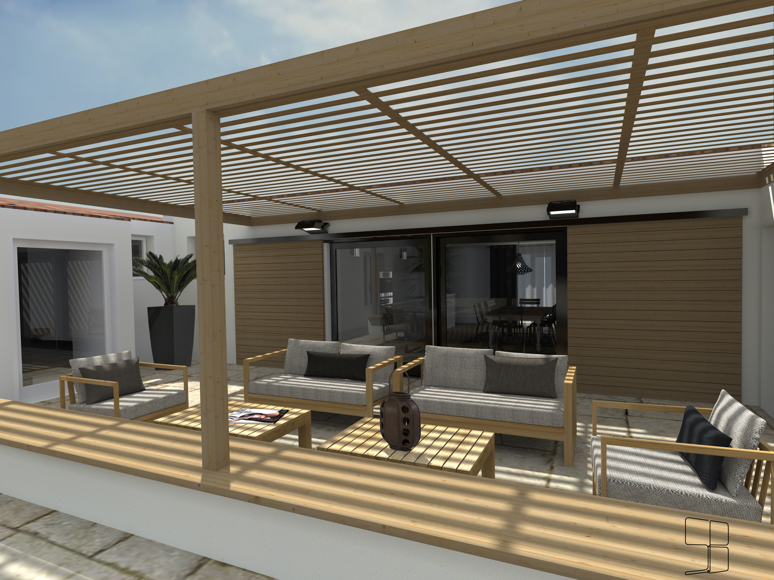 3d terrasse pergola l 39 accessoire du rangement blog. Black Bedroom Furniture Sets. Home Design Ideas
