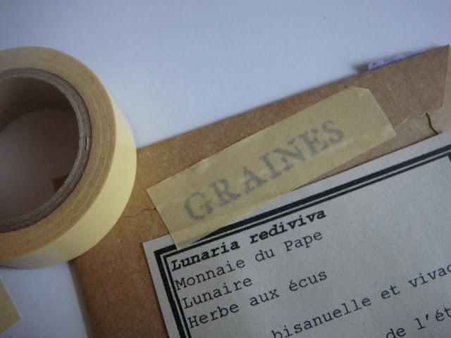 transfert impression sur masking tape