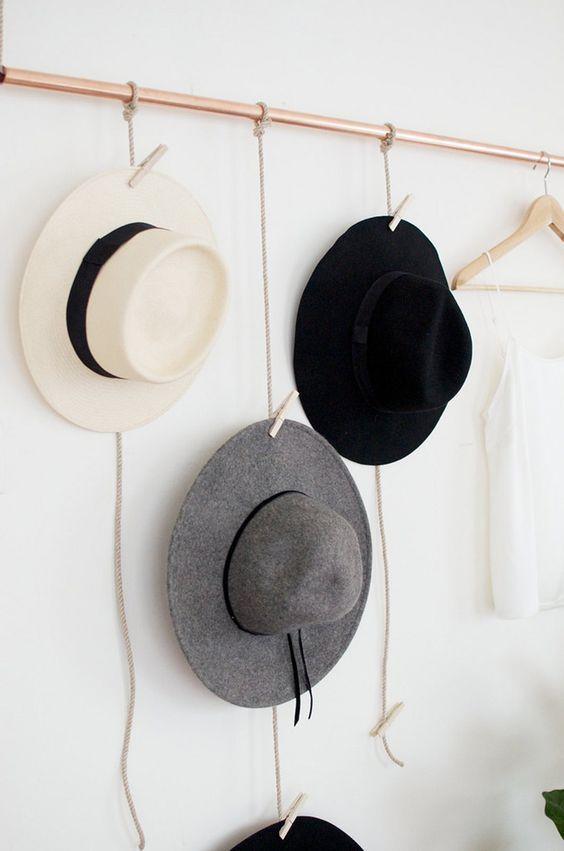 diy porte chapeaux l 39 accessoire du rangement blog sur l 39 organisation mais pas seulement. Black Bedroom Furniture Sets. Home Design Ideas