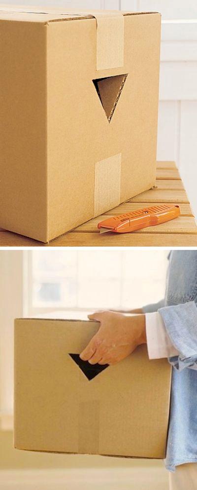 porter plus facilement carton