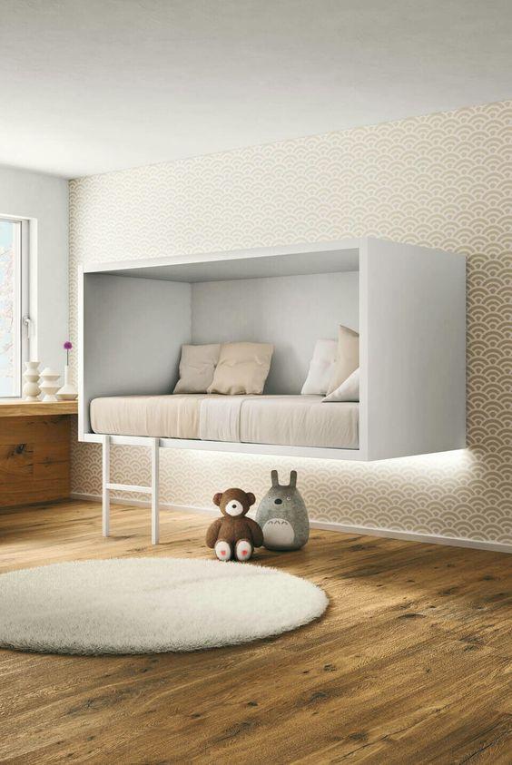 j chambre enfant lit suspendu l 39 accessoire du. Black Bedroom Furniture Sets. Home Design Ideas