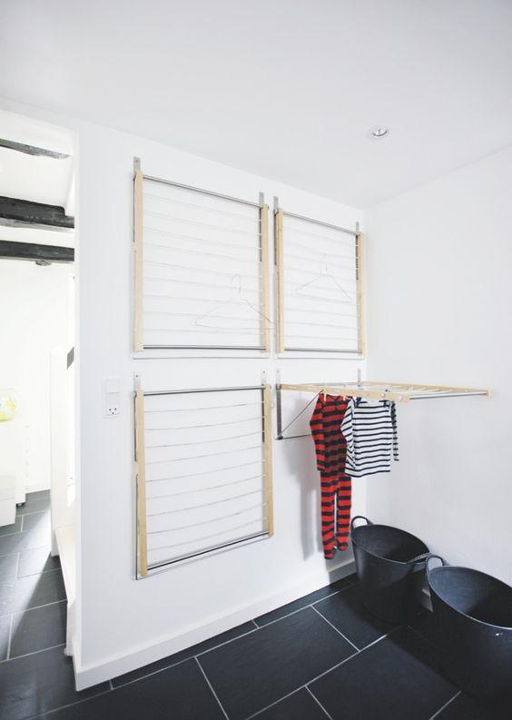 astuce tendre son linge en int rieur l 39 accessoire du rangement blog sur l 39 organisation. Black Bedroom Furniture Sets. Home Design Ideas