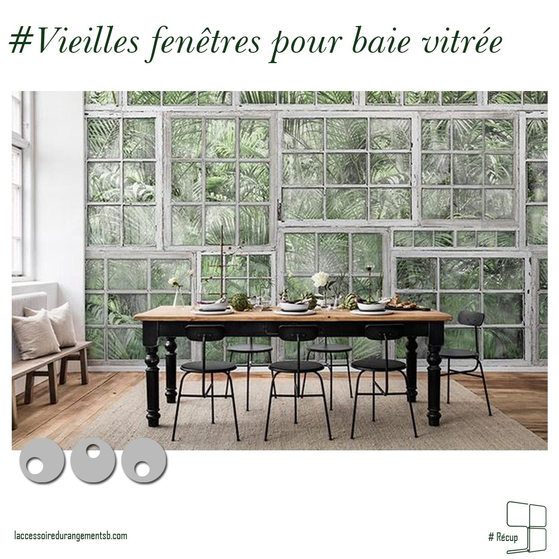 Récup // Accumulation vieilles fenêtres pour baie vitrée – L